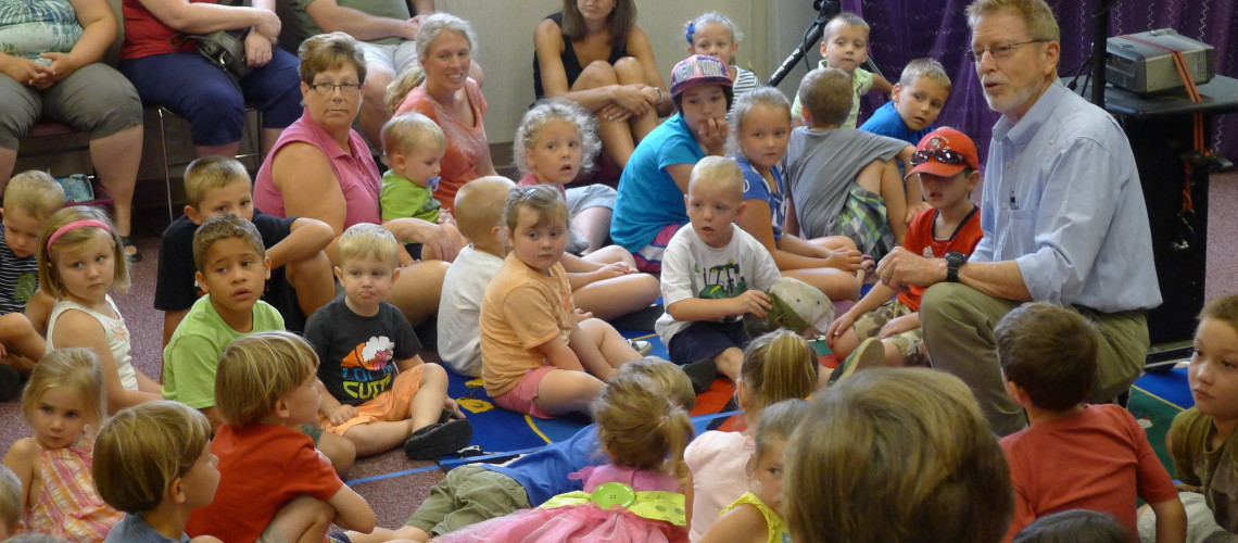 children's program in Churchville Branch Library