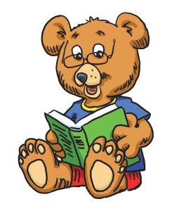 graphic of Little Bear reading a book