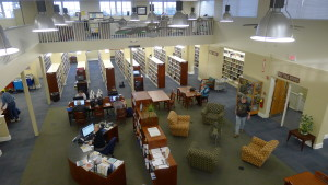 Interior view of Fishersville Library, adult section