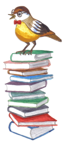 bird on books_PNG