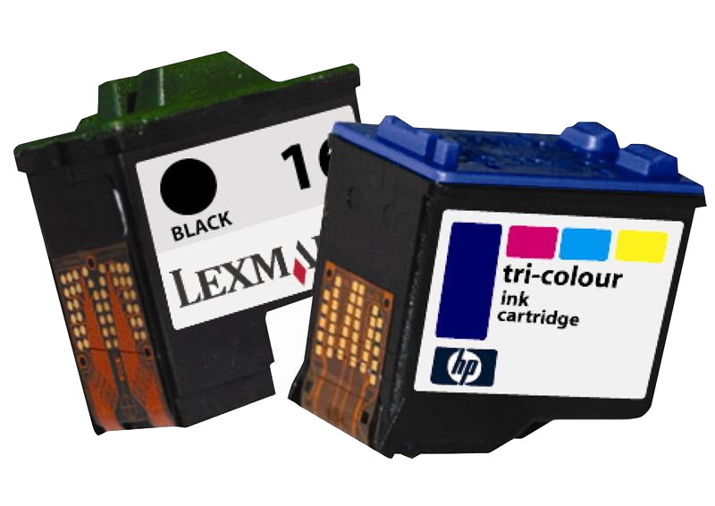 photograph of ink cartridges